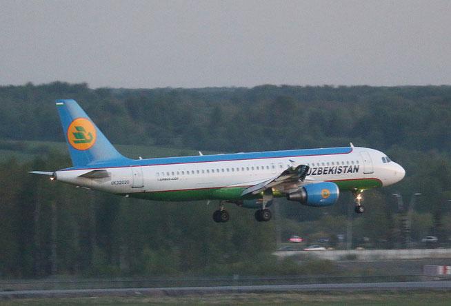 """A 320-214  """" UK32020 """"  Uzbekistan Airways -1"""