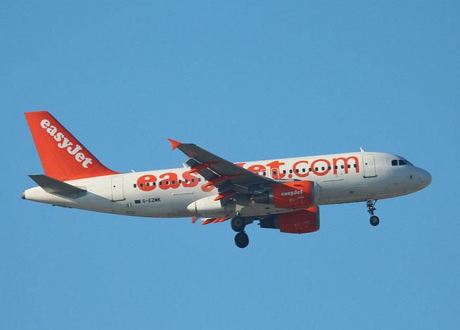 """A 319-111 """" G-EZMK """" easy Jet -1"""