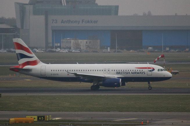 """A 320-232  """" G-EUYK """" British Airways -1"""