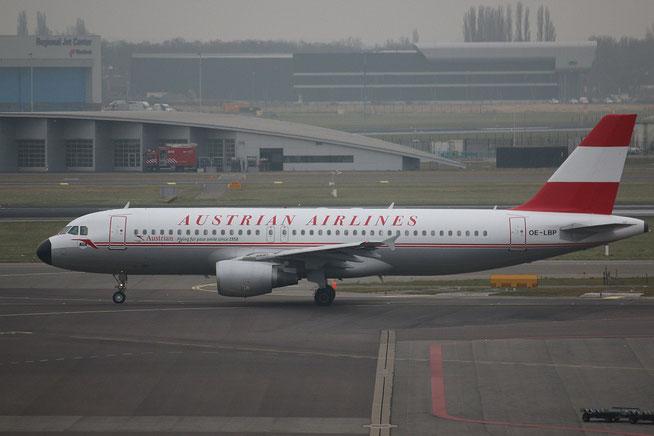"""A 320-214  """" OE-LBP """"  Austrian Airlines -1"""