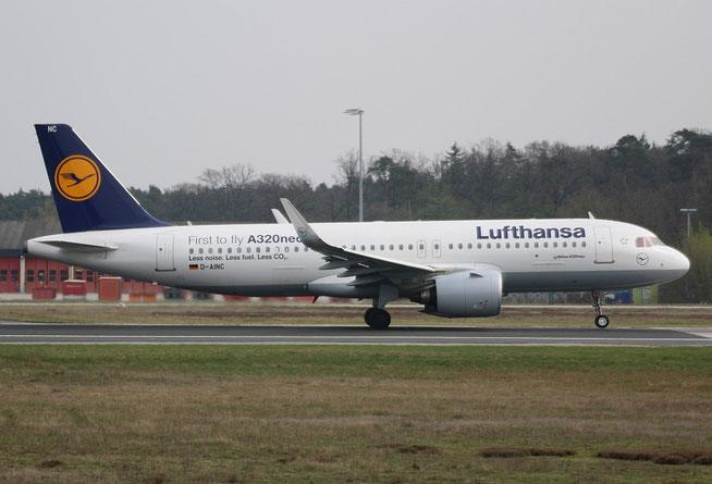 """A320-271n (W) """" D-AINC """"  Lufthansa -1"""
