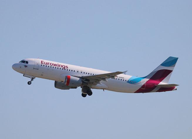 """A 320-214 """" D-ABNK """" Eurowings -1"""