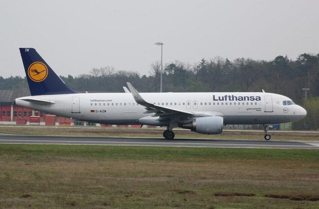 """A 320-214/W  """" D-AIZW """"  Lufthansa -2"""