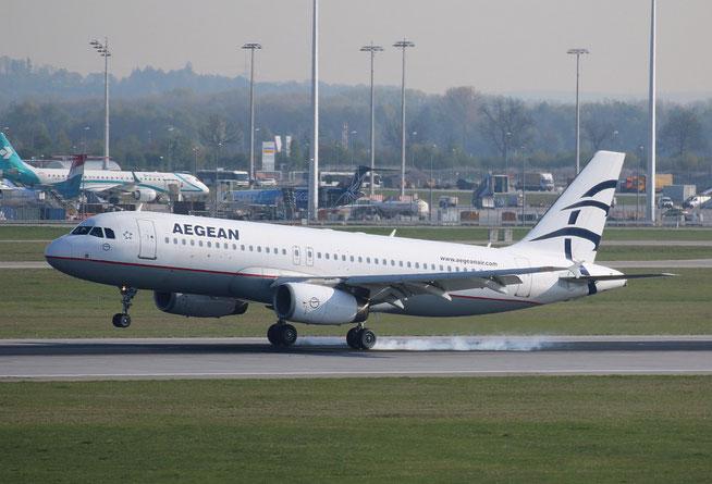 "A 320-232 "" SX-DGJ "" Aegean Airlines -1"