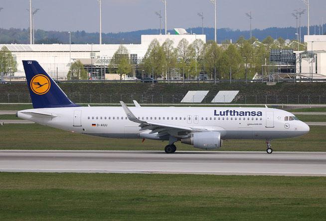 """A 320-214/W  """" D-AIUU """"  Lufthansa -1"""