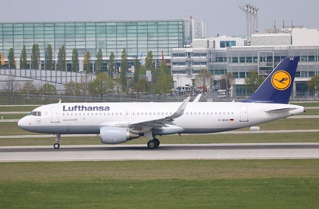 "A 320-214/W  "" D-AIUX ""  Lufthansa -1"