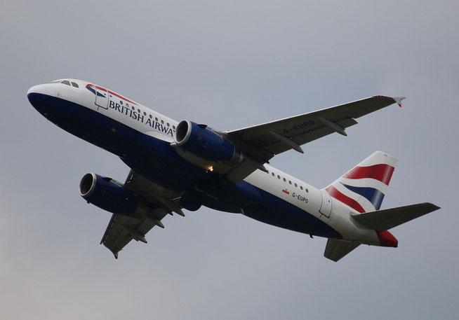 """A 319-131  """" G-EUPO """"  British Airways -1"""