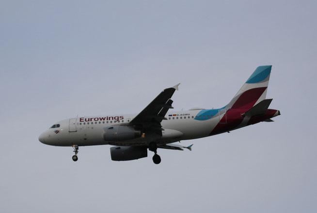 "A 319-132  "" D-AGWU ""  Eurowings -1"