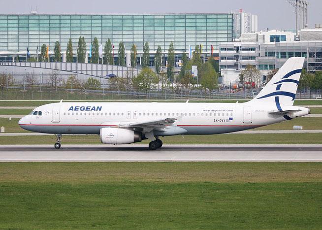 """A 320-232 """" SX-DVY """" Aegean Airlines -2"""