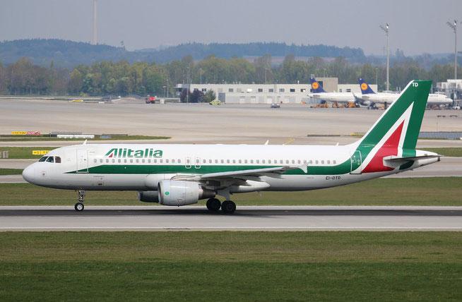 """A 320-216  """" EI-DTD """" Alitalia -1"""