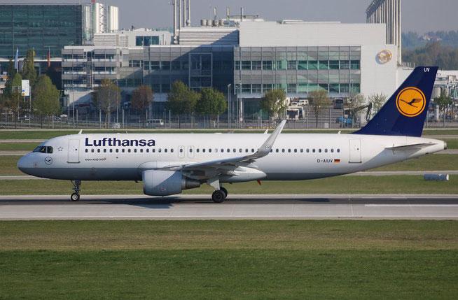 """A 320-214/W  """" D-AIUV """"  Lufthansa -3"""