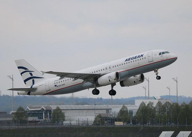 """A 320-232 """" SX-DVU """" Aegean Airlines -2"""
