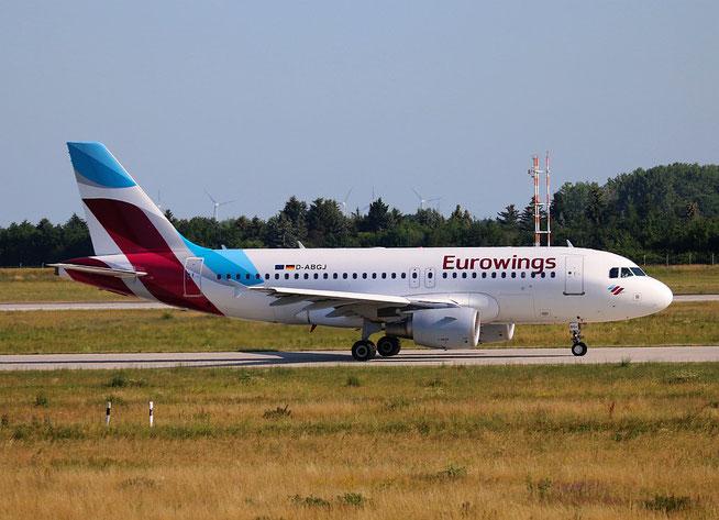 "A 319-112  "" D-ABGJ "" Eurowings -4"
