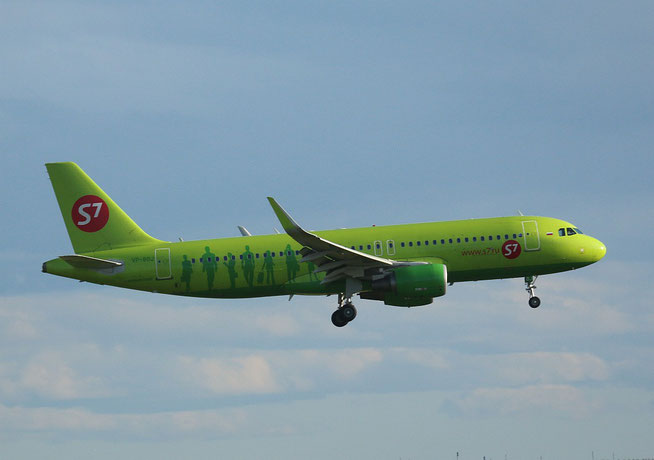 """A 320-214  """" VP-BOJ """"  S7 Airlines -1"""