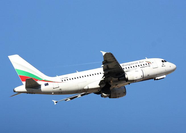 """A 319-112  """" LZ-FBA """"    Bulgaria Air -1"""