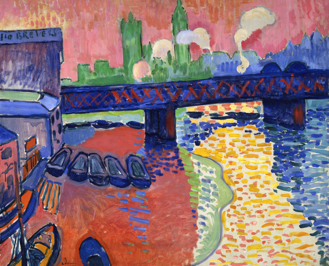 アンドレ・ドラン「チャンリグクロス橋」(1906年)。フォーヴィスム期の代表的な作品。