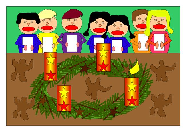 Der Adventsgruß wurde von Raja, Marian und Bela gestaltet.