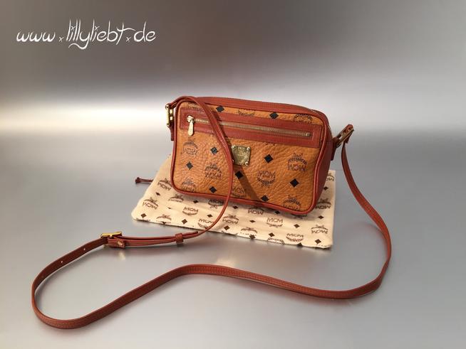 mcm schultertasche in cognac ankauf verkauf second hand designertaschen und accessoires. Black Bedroom Furniture Sets. Home Design Ideas