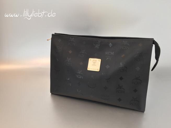 mcm kulturbeutel in schwarz ankauf verkauf second hand designertaschen und accessoires. Black Bedroom Furniture Sets. Home Design Ideas