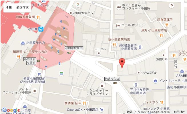 モリメシ 小田原 アクセス MAP