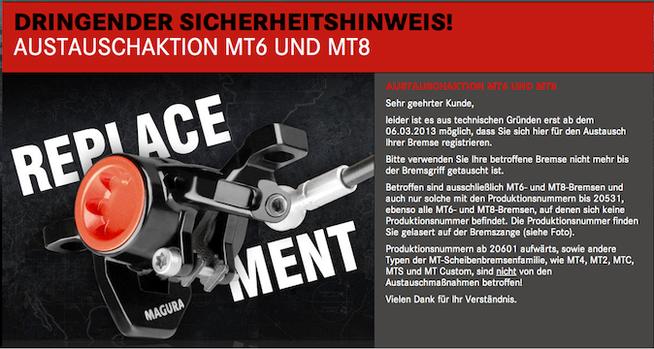 http://www.magura.com/de/austausch-mt/start.html?utm_source=CleverReach&utm_medium=email&utm_campaign=01-03-2013+MAGURA+B2B+D%252BAUT+Austauschaktion+MT6+und+MT8&utm_content=Mailing_5610350