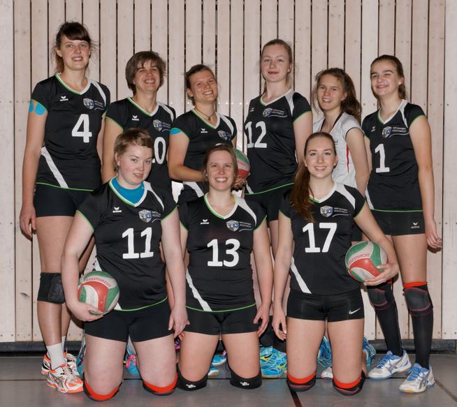 hinten von links: Daria, Svenja, Ulli, Debbie,  Helene, Linda; vorne von links: Aylin, Julika, Lea, Esther fehlt