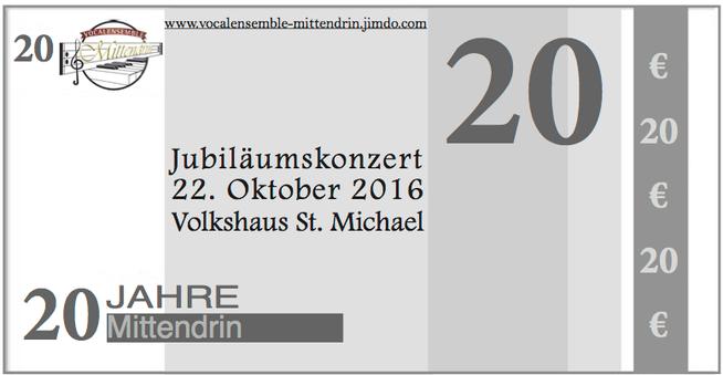 Jubiläumskonzert, 20 Jahre Mittendrin