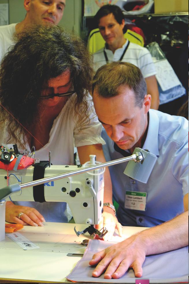 Handarbeit: Die Prototypen werden in Feldkirchen genäht.