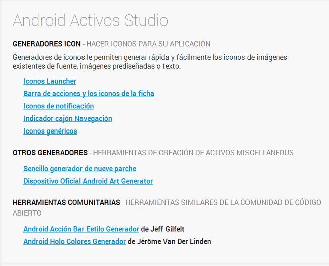 Android Asset Studio - Tu App Inventor