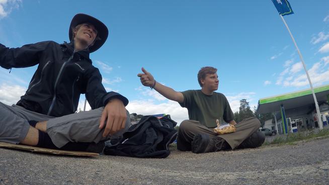 Mein Kumpel und ich 2015 auf der Reise zum Nordkap