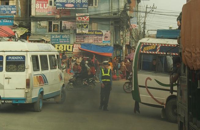 Verkehrspolizist Nepal Kathmandu