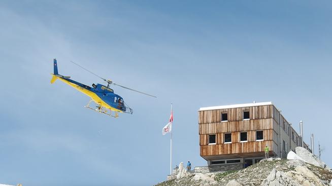 Helikopter-Rettung Alpen Schweiz
