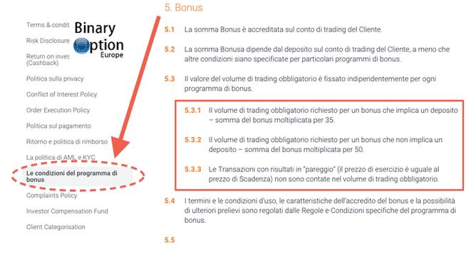iq option bonus regolamento termini e condizioni 2016