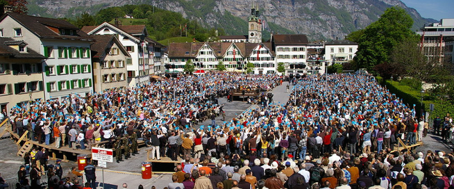 Image: Direct Democracy in Glarus (Switzerland) - the citizens decide!