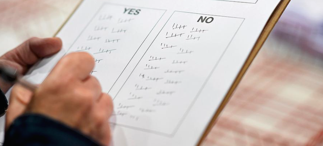 Bild: Ergebnisse des Referendums