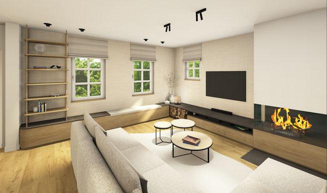Projet d'une nouvelle construction en Province du Hainaut par l'agence de Décoration Marie's Home
