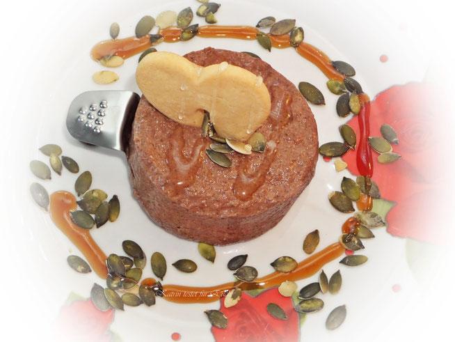 Und so sah dann mein Chia Pudding fertig zum Genießen aus ;)  - Guten Appetit !
