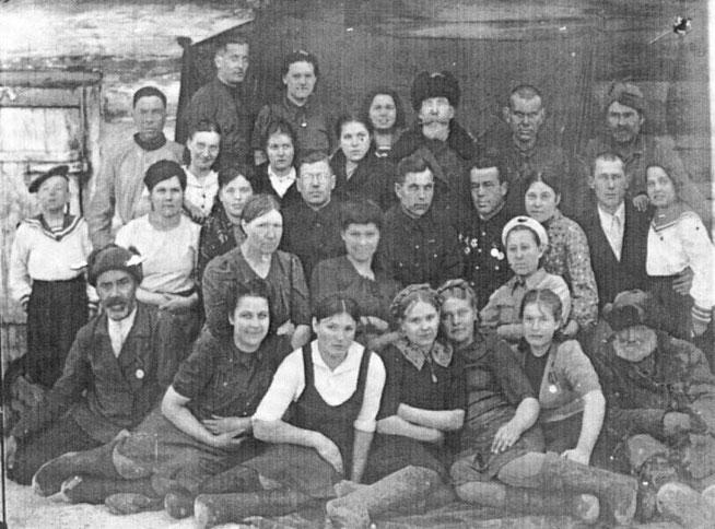 Работники Екатерининского детского дома 21 марта 1947 г.