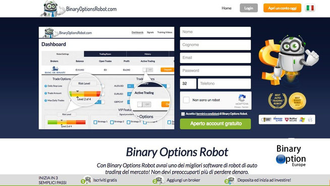 binary options robot opzioni binarie