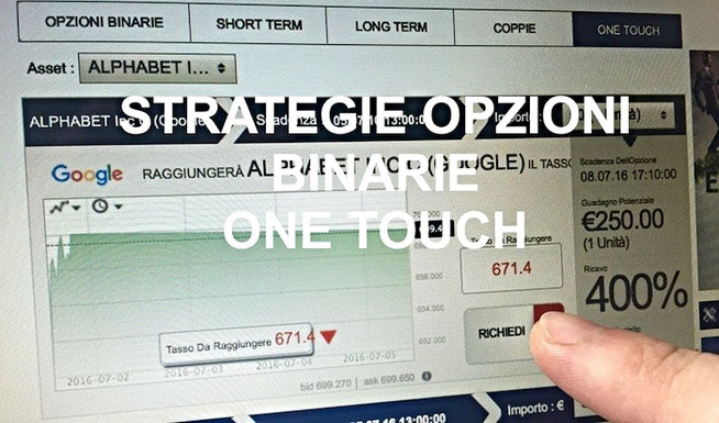 opzioni binarie one touch strategie