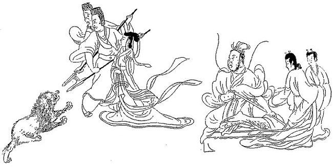 La tchao-yi Fong. Petrucci, Kou K'ai-tche.