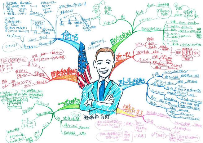 マインでマップでオバマ大統領スピーチを紐解いた