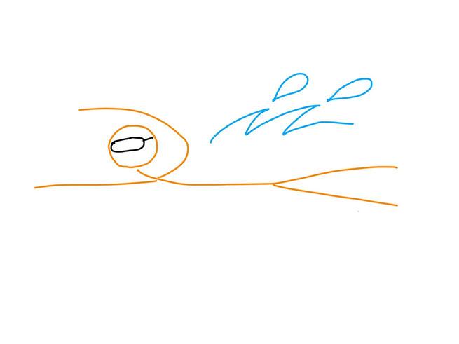 アイコン 「水泳」 (作: 塚原 美樹) ~ 水しぶきを描く