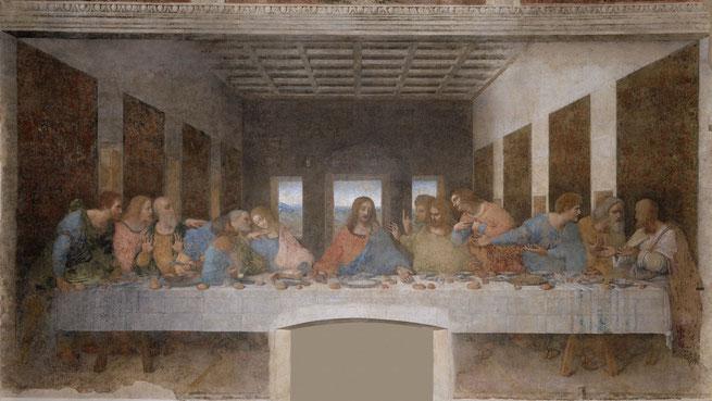 絵画 「最後の晩餐」 (作: レオナルド・ダ・ヴィンチ)