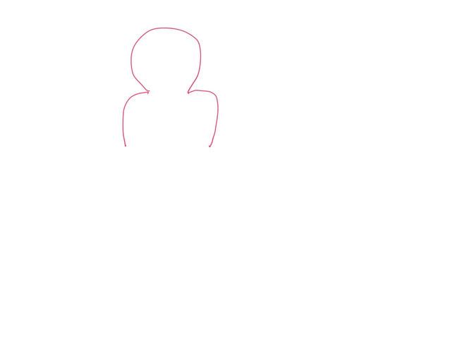 アイコン 「ミーティング」 (作: 塚原 美樹) ~ 頭の下に体を描く