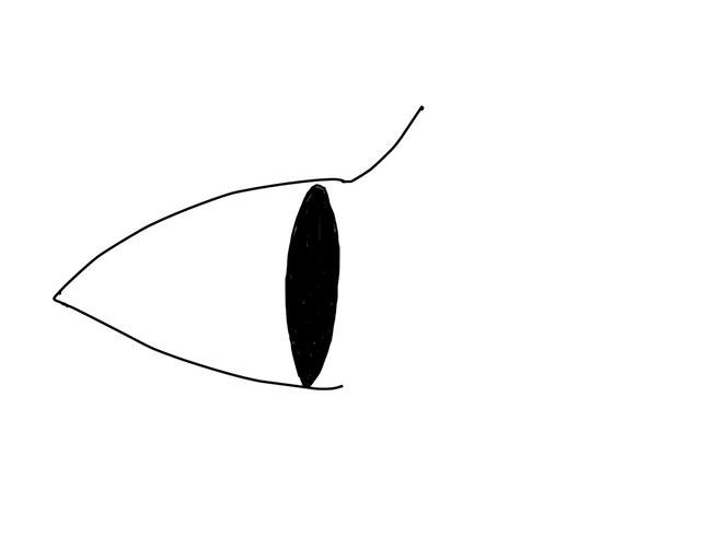 アイコン 「見る」 (作: 塚原 美樹) ~ 上まつげを描く