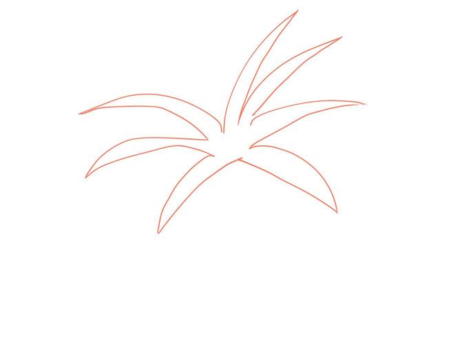 アイコン 「トマト」 (作: 塚原 美樹) ~ トマトのヘタを先に描く