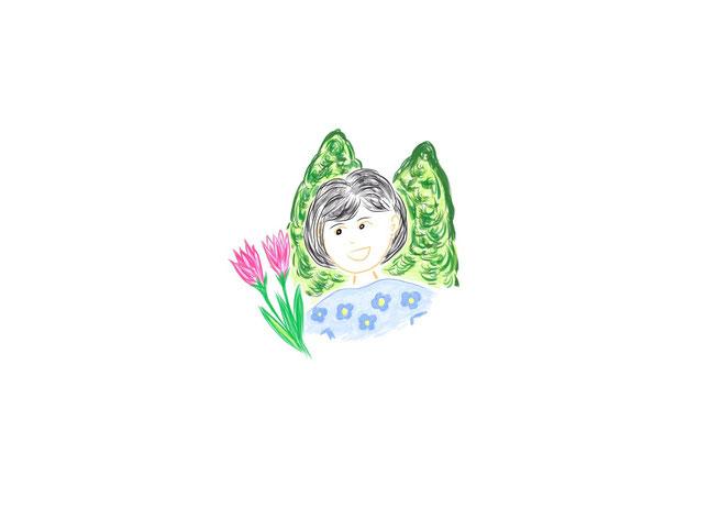 マインドマップ 「自己紹介」 (作: 塚原 美樹) ~ セントラルイメージを作成する