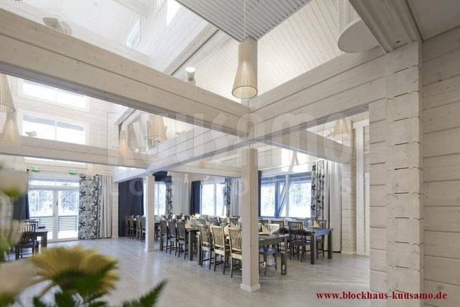 Hotel mit Restaurant im Blockhaus