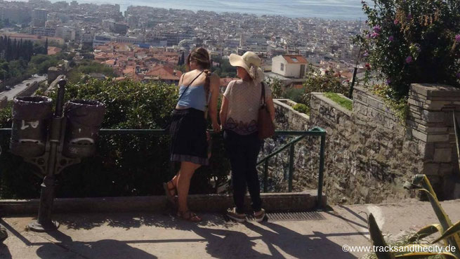 freaky finance, freaky travel, Tracks and the City, Top 5 Thessaloniki, Ausblick von oben auf Thessaloniki, Trigoniu Turm